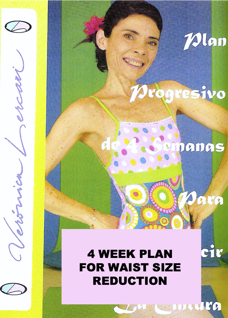 4-week plan for waist size reduction