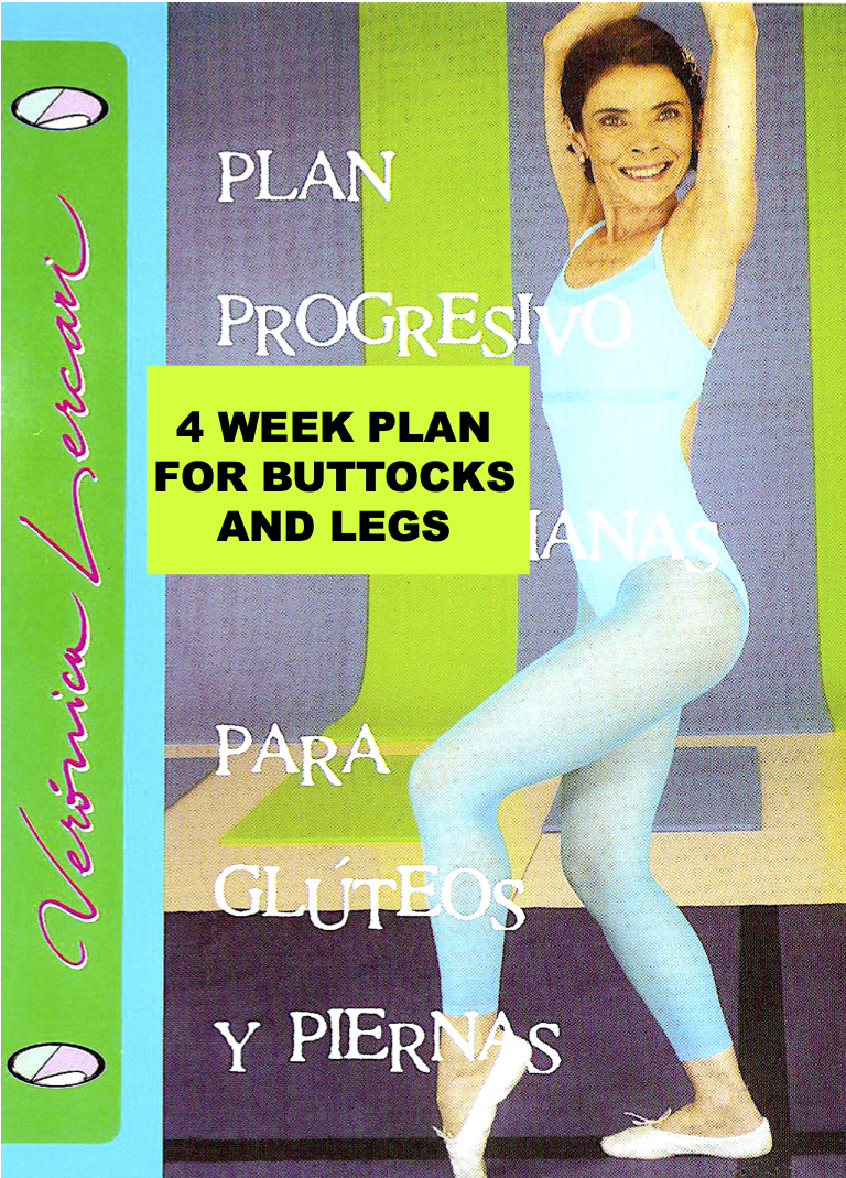 4-week plan for buttocks and legs